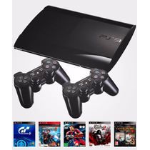 Playstation 3 500gb + 5 Jogos Originais + 2 Controles Ps3