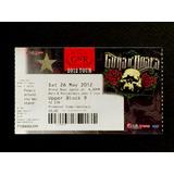 Guns N Roses Boleto De Coleccion Metallica Iron Judas Bon Ac