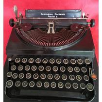 Maquina De Escrever Remington Portable 5 - Rara E Perfeita