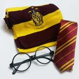 Pack Bufanda Corbata Y Lentes Gryffindor Harry Potter
