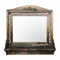 Espelho Decorativo Rústico De Parede C/ 3 S/juros S/frete
