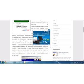 Banner Flutuante Para Blog E Site (básico)