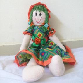 Boneca De Pano Artesanal
