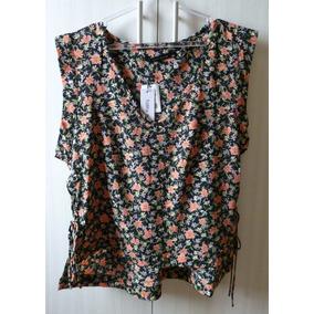 Blusa Tecido Estampado Flores Talita Kume