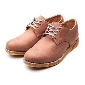 Zapato De Hombre Cuero Con Cordones Marrón