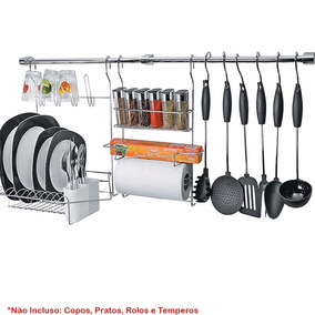 Kit Cook Home 18 Porta Rolo Papel Tempero Escorredor Arthi