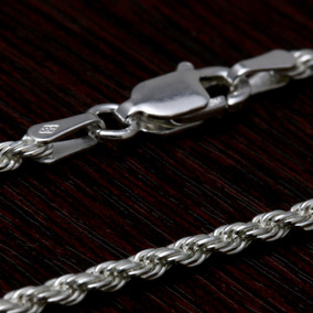Corrente Prata Maciça 925 Masculina Italiana Cordão Prata925
