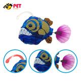 Robo Fish Led Feroz Peixe Lanterna Zona Abissal Nada Sozinho