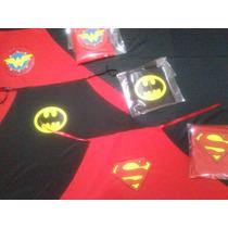 10 Capas Superheroe Souvenir,recuerdo,superman,batman,wonder