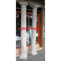 Columna Cemento Toscana Estriada 2.45 Fabrica