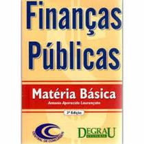 Livro Finanças Públicas: Matéria Básica Vários Autores