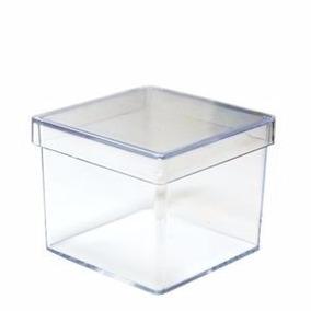 500 Caixinhas De Acrilico 5x5 Cristal Transparente - Atacado