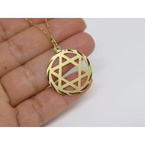Pingente Estrela De Davi Em Ouro Maciço 18k Frete Gratis