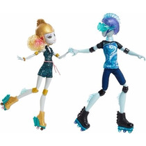 Monster High Lagoona Blue Y Gil Webber En Patines Duo Set