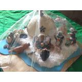 Nacimiento De Pingüinos Masa Flexible Navidad Navideño