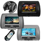 Encosto Cabeça Leitor Dvd Sony Fone Sem Fio Jogos E Joystick