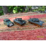 Lote De 3 Vehículos Minitarua Jeep Y 2 Tanques De Guerra