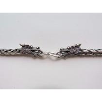 Cordão De Bali Palmera Trançada 80cm Em Prata 925