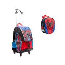 Kit Mochilete G + Lancheira Homem Aranha Spiderman Sestini