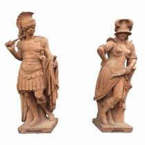Estátuas/esculturas Romanas Em Terracota Esculpidas A Mão