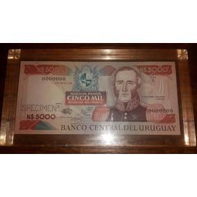 Billete Especimen N$ 5000 En Bloque De Acrilico
