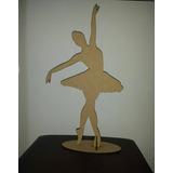 2 Bailarinas 50cm Mdf Cru Lembrancinha Festa 15 Anos
