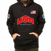 Blusa De Moletom Usa Eua Estados Unidos Basketball Canguru !