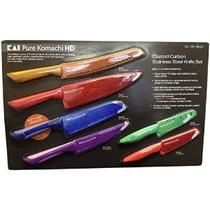 Pure Komachi Hd - 6 Recubierto De Carbono Cuchillos De Acero
