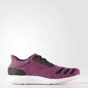 zapatillas adidas negras con violeta