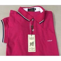 Camisa Polo Colcci Rosa Pink