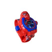 Relógio Digital Projetor De Imagem Brinquedos Homem Aranha