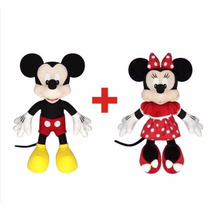 Mickey Minnie De Pelúcia Original Disney Lacradas
