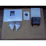 Controlador De Carga - 12/24v - 20a + 2 Lâmpadas De 12 Volt