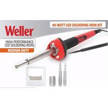 Cautin Weller 40 Watts Con 3 Puntas + Soporte Para Soldar