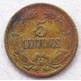 Moneda 1944 Venezuela 5 Centimos Patina Original Escasa