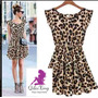 Vestido Importado Informal Leopardo Fresco Qilaixing