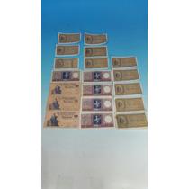 Lote De 19 Billetes De $ 1 Y Y $ 0.50 5 Correlativos