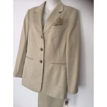 Le Suit Cactus Flower Golden Suit Traje Pants & Jacket Nuevo