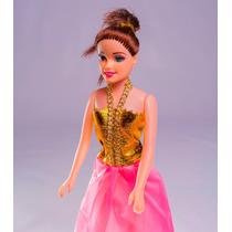 Boneca De Plástico Princesa Petra Com Filha Troca Roupa