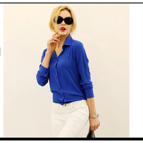 Blusa Azul Mujer Talla S