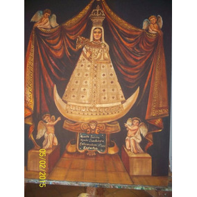 Pintura Sobre Tela Tema Virgen De Guadalupe