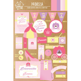 Kit Imprimible Princesa Romantica Castillo Candy Bar Deco !