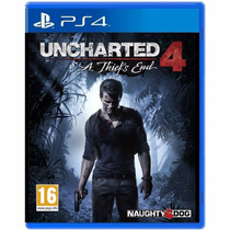 Jogo Uncharted 4 Playstation 4 Play 4 Mídia Física Lacrado