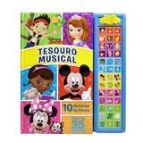 Livro Infantil Sonoro Tesouro Musical Disney Junior Dcl