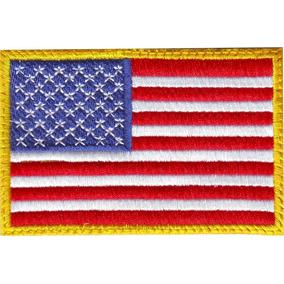 Usa Estados Unidos Bandera Parche Bordado