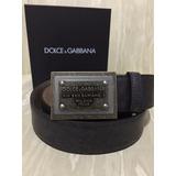 Cinto Dolce & Gabbana Made In Italy Preto Couro Igual Novo