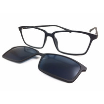 Armação Masculina E Feminino Grau Clip On Óculos Sol Lk037