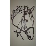 Painel Para Parede Cara De Cavalo Artesanal Ferro Trabalhado