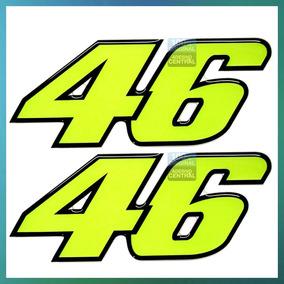 Kit Adesivos Valentino Rossi Nº46 Médio Resinados Emborra.