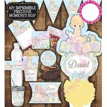 Kit Imprimible Precious Moments Etiquetas Niño Baby Shower